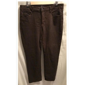 Size 14 Jeans NYDJ Straight Brown